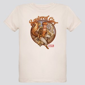 Squirrel Girl Rooftop Organic Kids T-Shirt