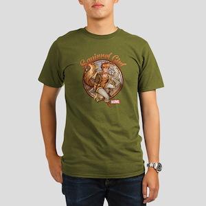 Squirrel Girl Rooftop Organic Men's T-Shirt (dark)