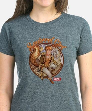 Squirrel Girl Rooftop Women's Dark T-Shirt