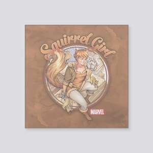 """Squirrel Girl Rooftop Square Sticker 3"""" x 3"""""""