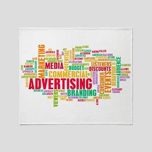 Advertising Online Throw Blanket
