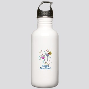 Happy New Year Stainless Water Bottle 1.0L