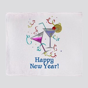 Happy New Year Throw Blanket