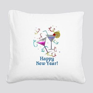 Happy New Year Square Canvas Pillow