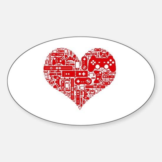 Gamer heart Decal