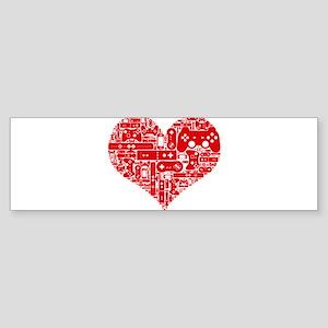 Gamer heart Bumper Sticker