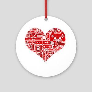 Gamer heart Round Ornament