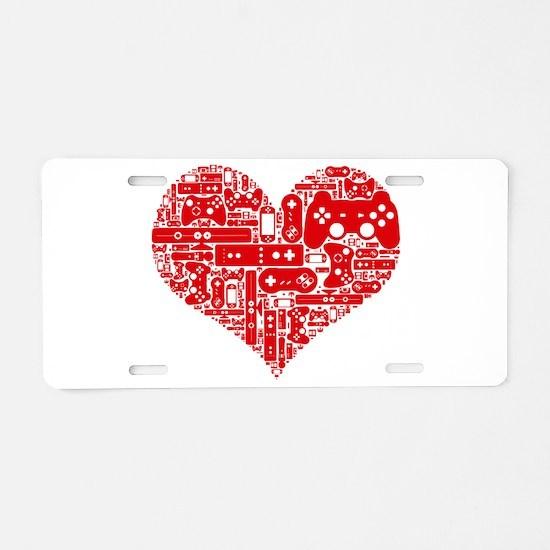 Gamer heart Aluminum License Plate