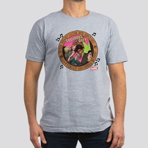 Squirrel Girl Action Men's Fitted T-Shirt (dark)