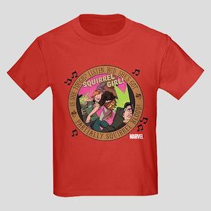 Squirrel Girl Action Kids Dark T-Shirt