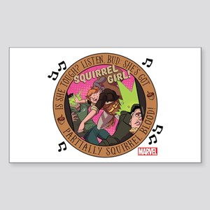 Squirrel Girl Action Sticker (Rectangle)