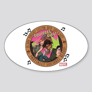Squirrel Girl Action Sticker (Oval)