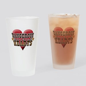 Dangerous Hearts Drinking Glass