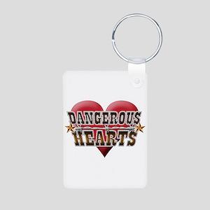 Dangerous Hearts Aluminum Photo Keychain