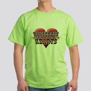 Dangerous Hearts Green T-Shirt