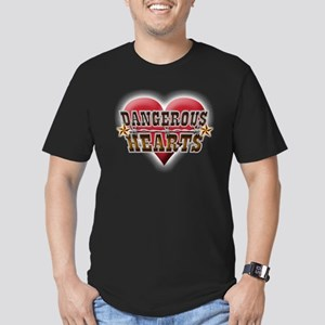 Dangerous Hearts Men's Fitted T-Shirt (dark)
