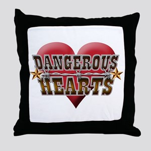 Dangerous Hearts Throw Pillow