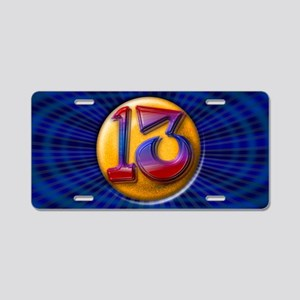 Lucky Number 13 Aluminum License Plate