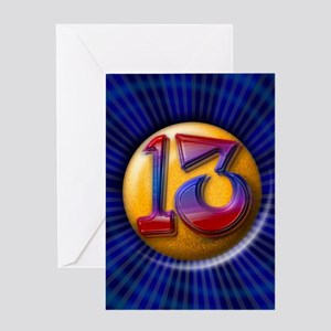 Lucky Number 13 Greeting Card