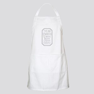 1 Year (Gray Chevron) Apron