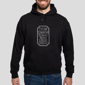 1 Year (Gray Chevron) Hoodie (dark)