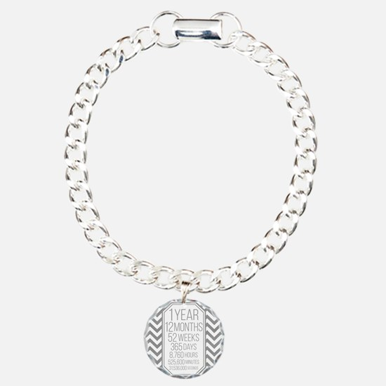 1 Year (Gray Chevron) Bracelet