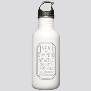 1 Year (gray Chevron) Stainless Water Bottle 1.0l