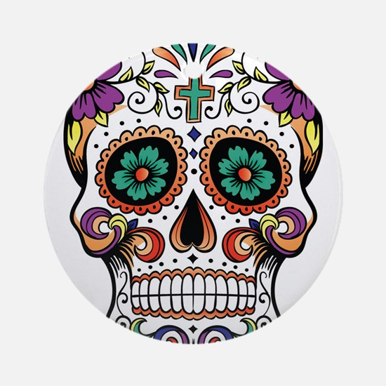 sugar skull Round Ornament