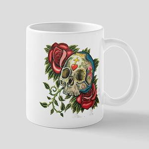 sugar skull roses Mugs