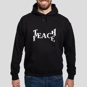 Teach Peace Hoodie (dark)
