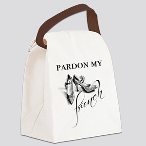Pardon My French High Heels Canvas Lunch Bag