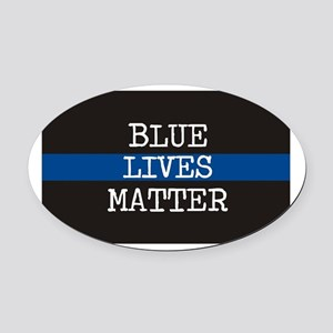 Blue Lives Matter Oval Car Magnet