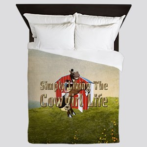 Simple Cowgirl Life Queen Duvet