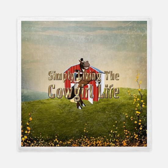 Simple Cowgirl Life Queen Duvet