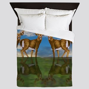 White Tail Bucks Queen Duvet