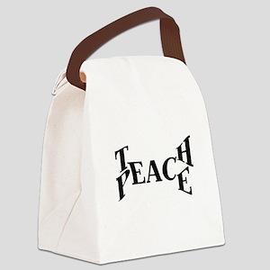 Teach Peace Canvas Lunch Bag