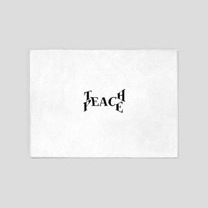 Teach Peace 5'x7'Area Rug