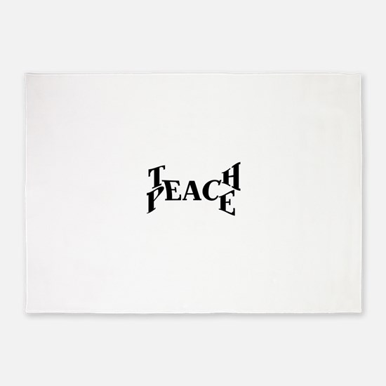 Teach Peace 5'x7'Area Rug