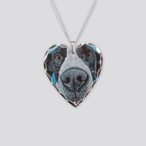 Great Dane Necklace Heart Charm