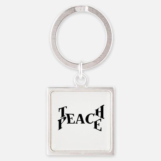 Teach Peace Keychains