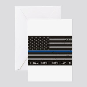 Blue Lives Matter Greeting Cards