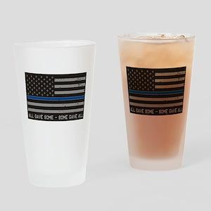 Blue Lives Matter Drinking Glass