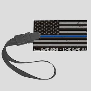 Blue Lives Matter Large Luggage Tag