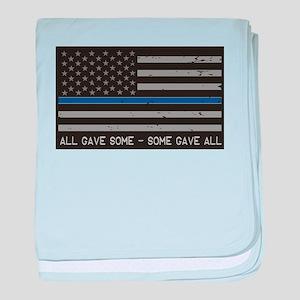 Blue Lives Matter baby blanket