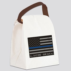 Blue Lives Matter Canvas Lunch Bag