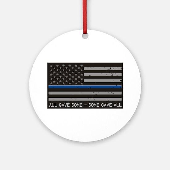 Blue Lives Matter Round Ornament