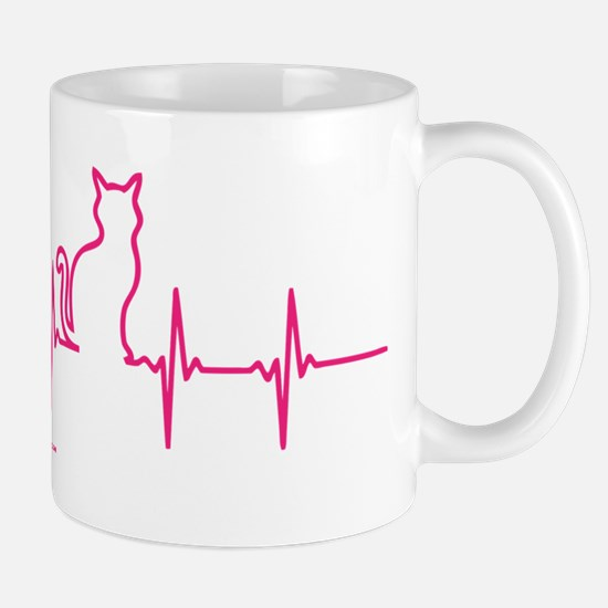 Cat Heartbeat Mugs