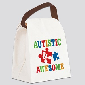 Autistic Awesome Canvas Lunch Bag