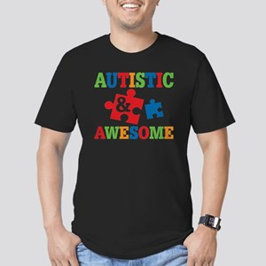 Autistic Awesome Men's Fitted T-Shirt (dark)