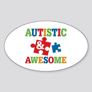 Autistic Awesome Sticker (Oval)
